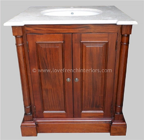 Bespoke Single Sink Vanity Unit with Double Doors